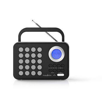 Radio portabil FM microSD USB cu maner 3W negru/alb Nedis 0