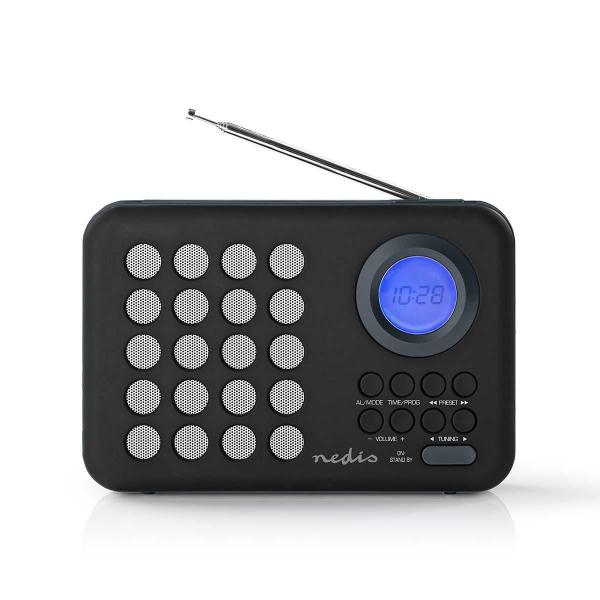 Radio portabil FM microSD USB cu maner 3W negru/gri Nedis 0
