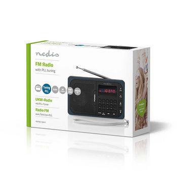 Radio portabil FM port USB si microSD 3.6W negru/gri, Nedis 1