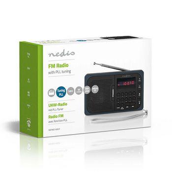 Radio portabil FM port USB si microSD 3.6W negru/gri, Nedis 2