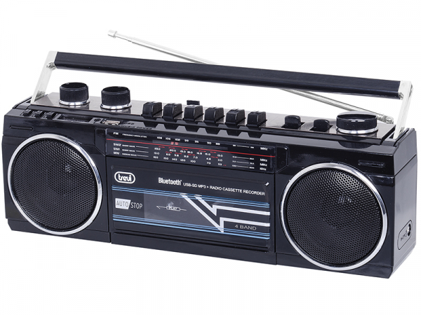 Radiocasetofon portabil RR 501 BT FM, Bluetooth, MP3, USB, negru Trevi 0