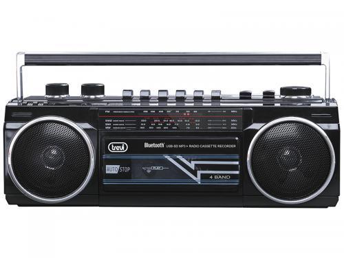 Radiocasetofon portabil RR 501 BT FM, Bluetooth, MP3, USB, negru Trevi [1]