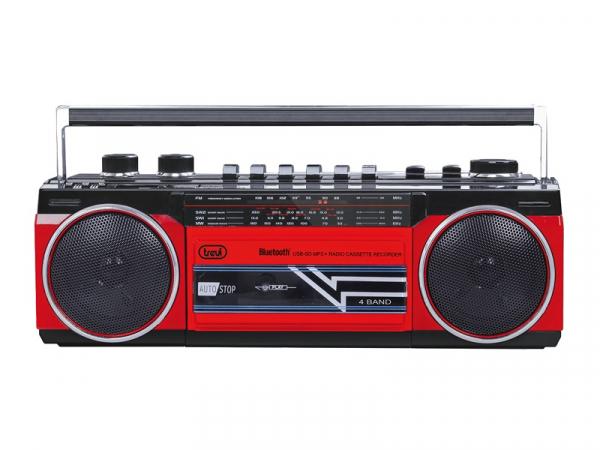 Radiocasetofon portabil RR 501 BT FM, Bluetooth, MP3, USB, rosu Trevi 0