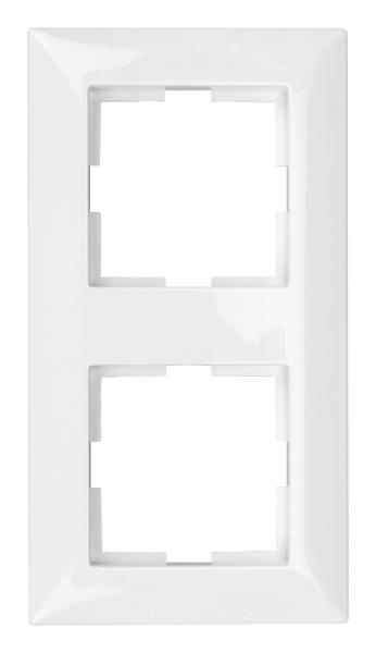 Rama pentru 2 aparate Schrack Visio50 EV105002 alb 0