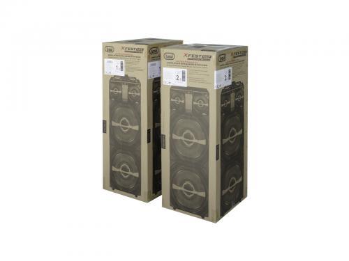 Set 2xBoxe portabile cu functie karaoke si amplificator, 600W, Trevi 3