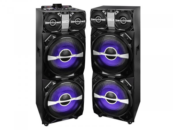 Set 2xBoxe portabile cu functie karaoke si amplificator, 600W, Trevi 0