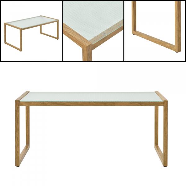 Set mobilier gradina Dallas, masa 40 x 91 x 50 cm, banca 65 x 125 x 75 cm, fotoliu 65 x 64 x 75cm, otel/textil, bej [casa.pro]® 2