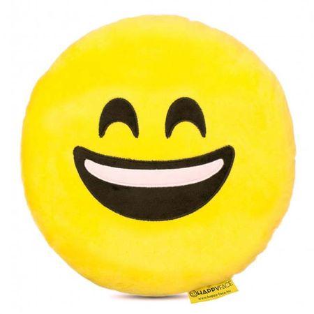 Perna decorativa Emoji Smiley Happy Face, Textil, Galben 0