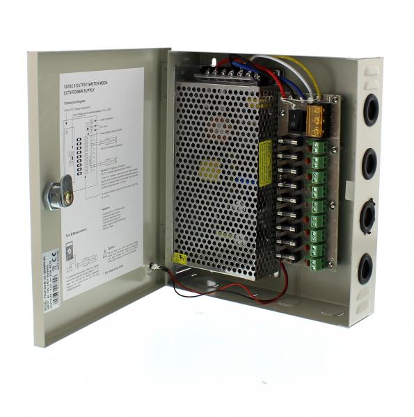 Sursa in comutatie AC-DC cu cutie 120W 12V 10.0A 9canale WELL [0]