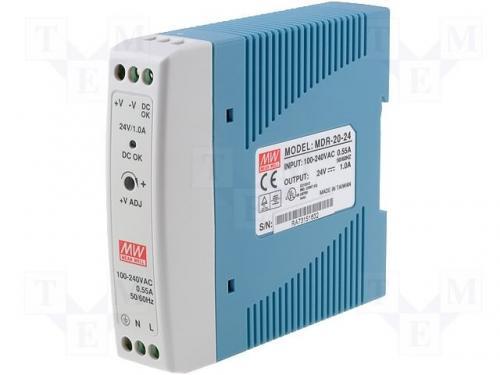 Sursa in comutatie AC-DC pe sina DIN 20W 24V 1A MDR-20-24 MeanWell [0]