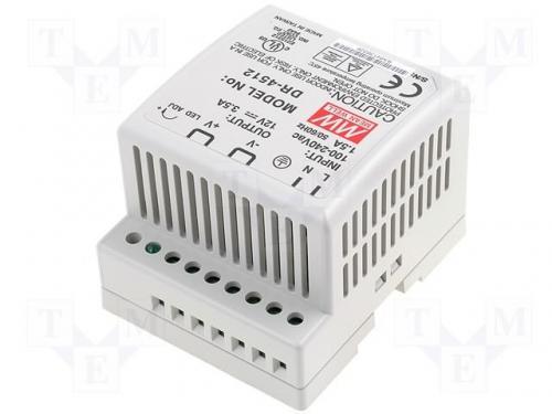Sursa in comutatie AC-DC pe sina DIN 42W 12V 3.5A DR-4512 MeanWell [0]