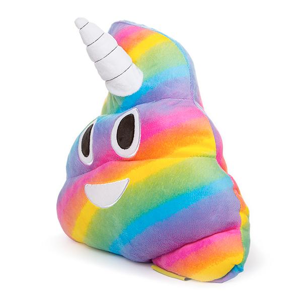 Jucarie de Plus Rahat Unicorn Curcubeu Multicolor Emoji 2