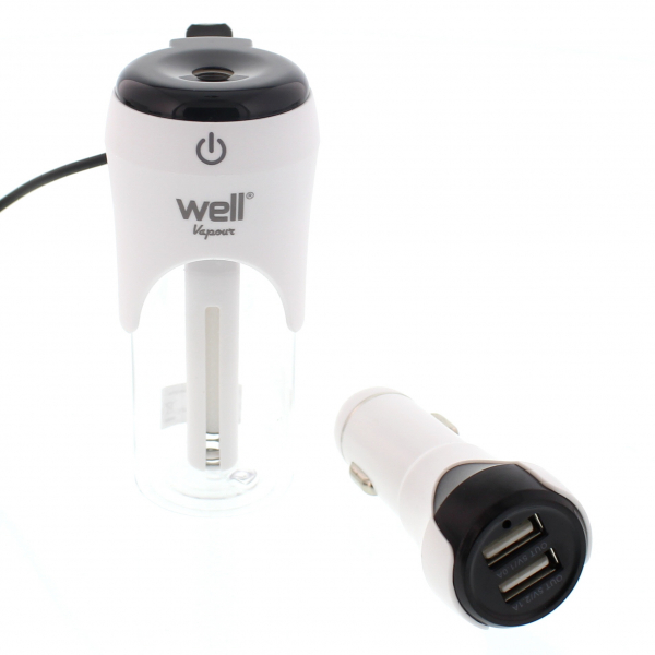 Umidificator auto si incarcator USB Vapour Well 0