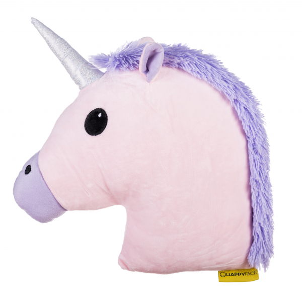 Perna decorativa Emoji Unicorn Pink  Happy Face 1
