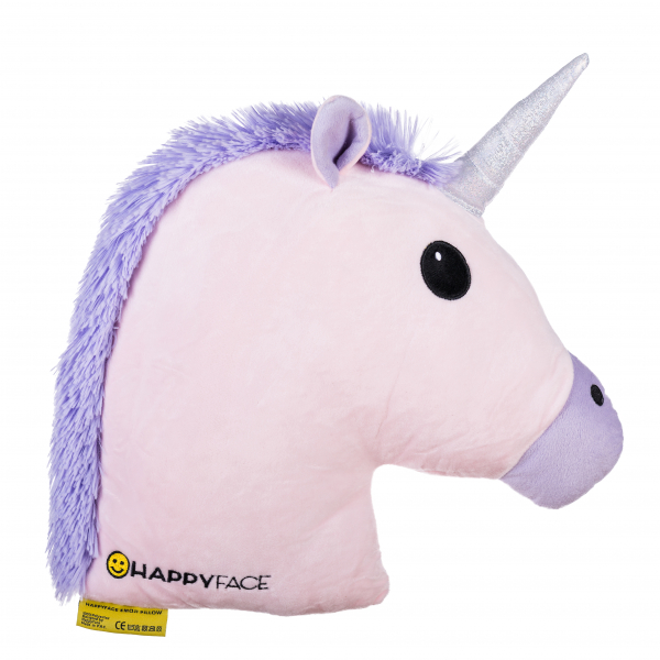 Perna decorativa Emoji Unicorn Pink  Happy Face 0