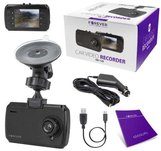 Camera Auto Forever Moto VR-120, HD, Ecran 2,4``TFT,  Negru 3