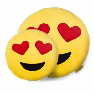 Perna Decorativa Emoji Indragostit, Happy Face, Galben2