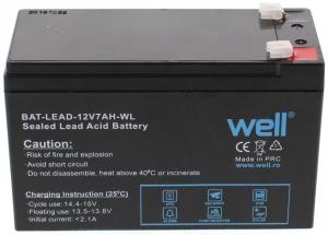 Acumulator plumb acid 12V 7AH Well0
