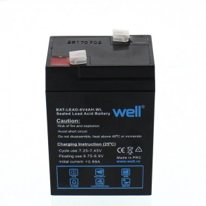 Acumulator plumb acid 6V 4AH, Well0