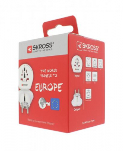 Adaptor priza universal World -> EU Skross1