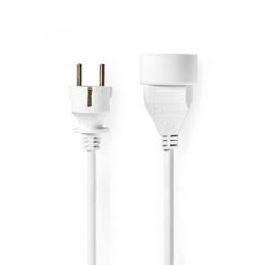 Cablu prelungitor 5m H05VV-F 3G1.5 IP20 alb Nedis [1]