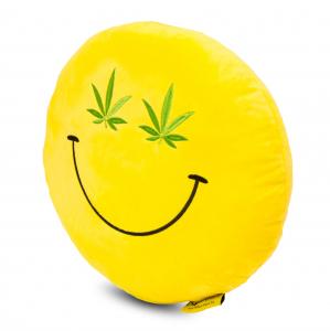 Perna decorativa Emoji Cannabis Happy Face1