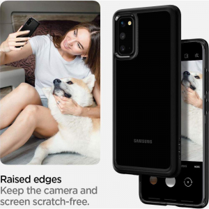 Carcasa Pentru Samsung Galaxy S20 Spigen Ultra Hybrid, Negru4