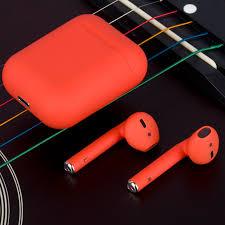 Casti Bluetooth Wireless Stereo i12 Fara Fir Compatibile cu Apple si Android, Rosu4