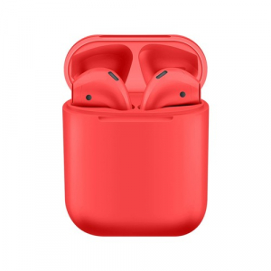 Casti Bluetooth Wireless Stereo i12 Fara Fir Compatibile cu Apple si Android, Rosu0