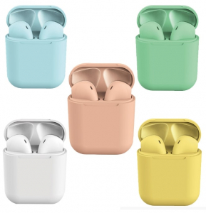 Casti Bluetooth Wireless Stereo inPods12 Pink Fara Fir Compatibile cu Apple si Android [3]