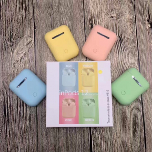 Casti Bluetooth Wireless Stereo inPods12 Pink Fara Fir Compatibile cu Apple si Android [1]