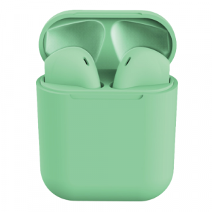 Casti Wireless Stereo inPods12 Verde Fara Fir Compatibile cu Apple si Android0