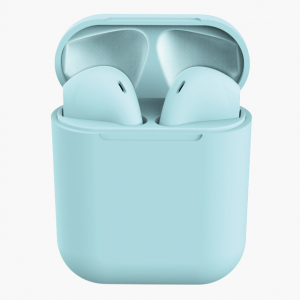 Casti Wireless Stereo inPods12 Albastru Fara Fir Compatibile cu Apple si Android0