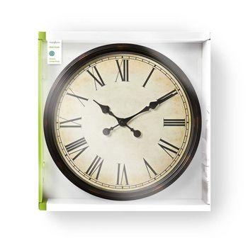 Ceas de perete de lemn stil antic 50 cm Nedis3