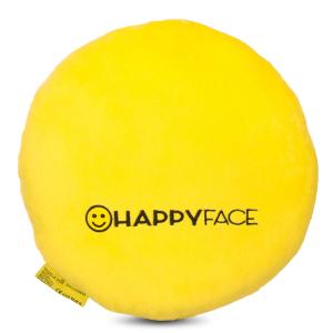 Perna decorativa Emoji Smiley Happy Face, Textil, Galben1