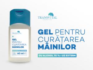Gel Dezinfectant Antibacterian Transivtal cu 70% Alcool 60ml2