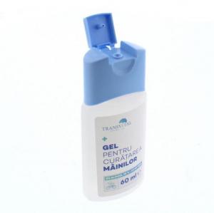 Pachet 2x Gel Dezinfectant Antibacterian Transivtal cu 70% Alcool 60ml + 10X Masti de Protectie Faciala 18x10 cm2