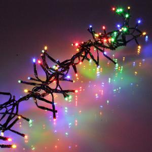 Ghirlanda luminoasa decorativa cu LED multicolor cablu negru WELL0