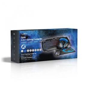 Kit Gaming cu fir 4-in-1 tastatura, casti, Mouse si Mouse Pad, Nedis4