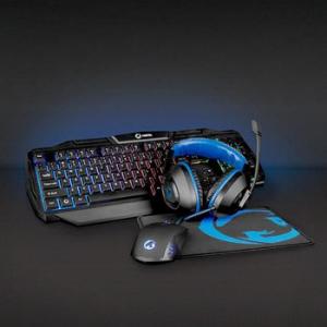 Kit Gaming cu fir 4-in-1 tastatura, casti, Mouse si Mouse Pad, Nedis1