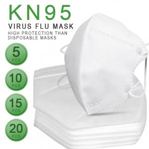 Masca KN95 Faciala Profesionala Set x5 Bucati cu 4 Straturi de Protectie3