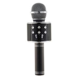 Microfon Wireless Profesional Karaoke Cu Difuzor Bluetooth, Negru2