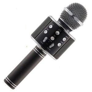 Microfon Wireless Profesional Karaoke Cu Difuzor Bluetooth, Negru0