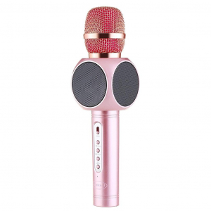 Microfon Wireless Profesional Karaoke Cu Difuzor Bluetooth, Roz0