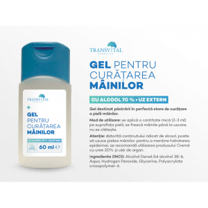 Pachet - Gel antibacterian igienizant Transvital, 5 bucati X 60 ml, 70% Alcool1