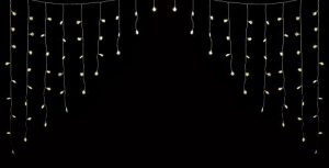Perdea luminoasa tip turturi cu fulg de nea 90 LED-uri albe lumina calda cablu transparent WELL2