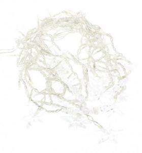 Perdea luminoasa tip turturi cu stele 100 LED-uri albe lumina rece cablu transparent WELL1