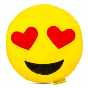 Perna Decorativa Emoji Indragostit, Happy Face, Galben0