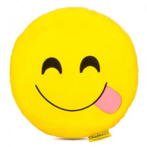 Perna decorativa Emoji Happy Face0