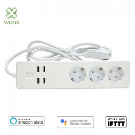 Prelungitor Smart WiFi Woox R4028 3 prize 4x USB 1.8m1
